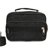 Мужская маленькая сумка 3в1 черного цвета (2663-ч)