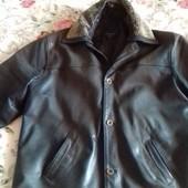 Зимняя кожаная куртка-батал Benetti