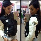 Женская модная курточка-бомбер