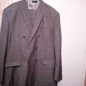 Серый в клеточку хлопковый костюм-тройка Tailor4Less.