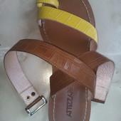 сандалии кожаные