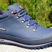 мужские кожаные ботинки деми/зима 2 цвета КОД:М