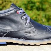 мужские кожаные ботинки деми/зима  КОД:М