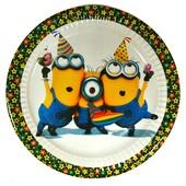 Декор и одноразовая детская бумажная посуда Миньоны