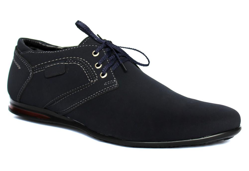 Мужские туфли - мокасины синего цвета (бм-01с) фото №2