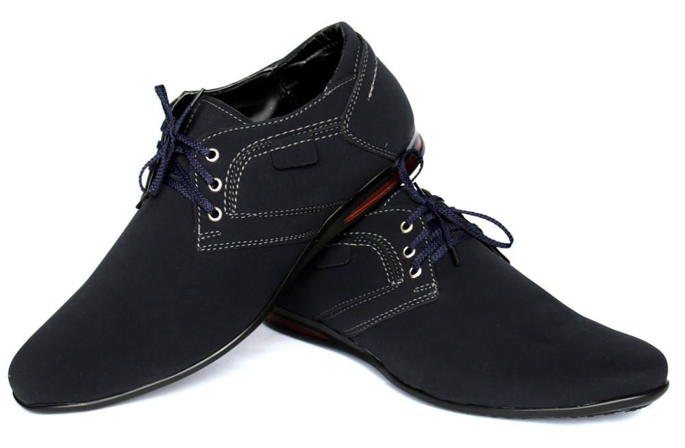 Мужские туфли - мокасины синего цвета (бм-01с) фото №3