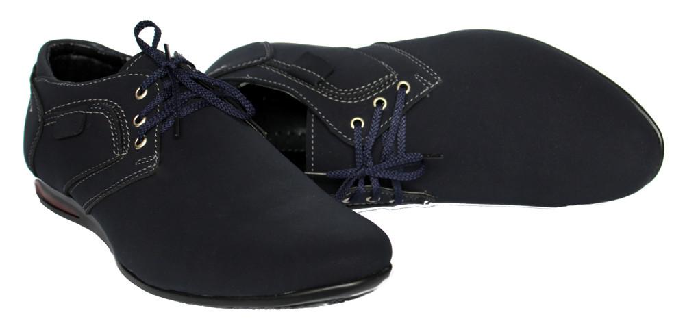 Мужские туфли - мокасины синего цвета (бм-01с) фото №4
