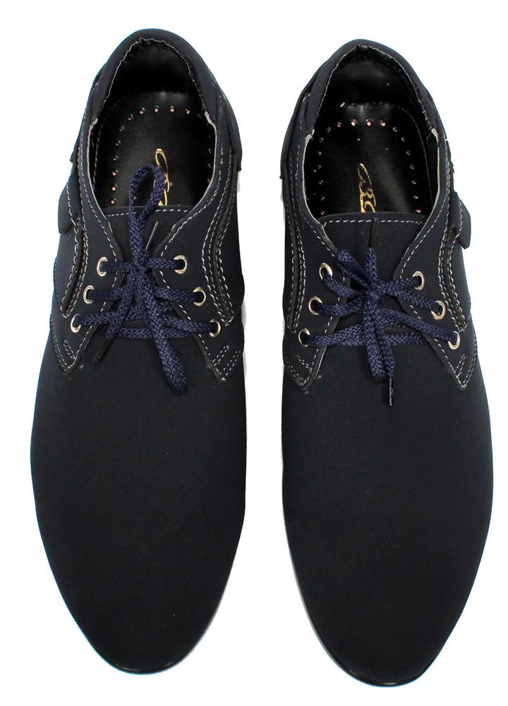 Мужские туфли - мокасины синего цвета (бм-01с) фото №5