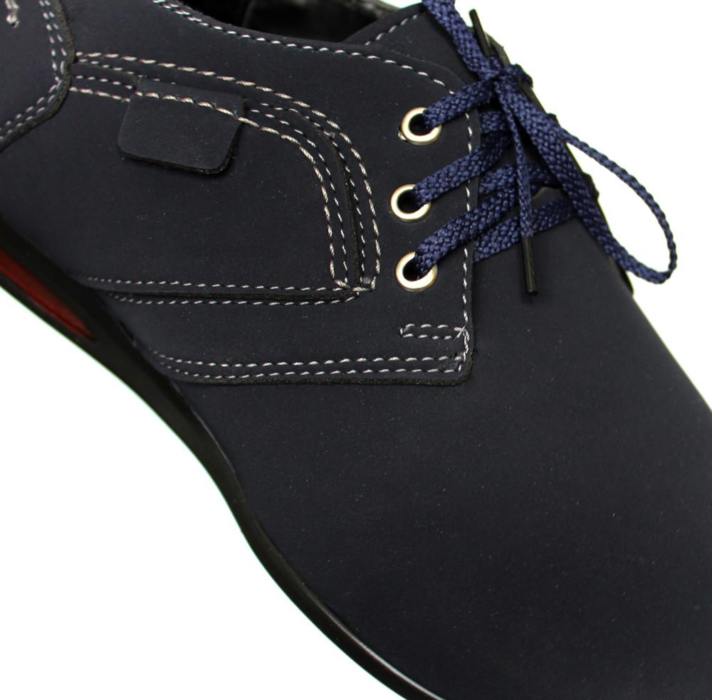 Мужские туфли - мокасины синего цвета (бм-01с) фото №7