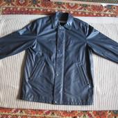 Шикарная мягчайшая черная фирменная кожаная куртка Donar menswear XL.