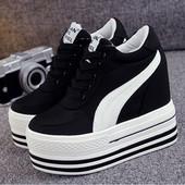 Сникерсы кроссовки на платформе+танкетка. Коллекция 2018