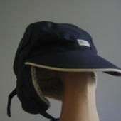 Демисезонная шапка варежки на мальчика 1-1.5 годика