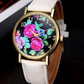Наручные часы с цветочным принтом код 200