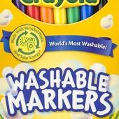 Фломастеры тонкие и толстые Crayola 8шт. Оригинал.