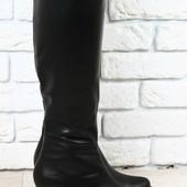 Сапоги устойчивом каблуке, р. 36-41, натур. кожа на меху, код nvk-2216