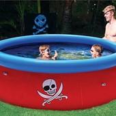 Наливной надувной бассейн bestway 57243 3D