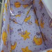 """7 в 1 - расцветки! Комплект постельного белья для малышей """"Мишки-горох"""""""