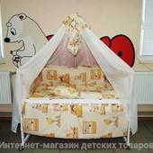 3 цвета! Комплект детского постельного белья Bonna Мишки-домики