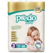 Подгузники predo baby premium 3 (4-9 кг), 68 шт фото №1