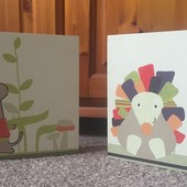 Картины для детской мышка и ежик Mamas & Papas Hodge Podge