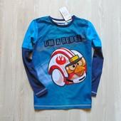 Новый яркий трендовый реглан Angry Birds для мальчика. F&F. Размер 7-8 лет