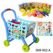 Супермаркет 008-902 А тележка для супермаркета с продуктами набор игровой