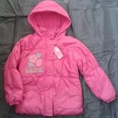 Распродажа стока Теплая куртка для девочки рост 128-134
