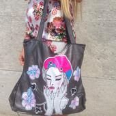 сумка с мультяшным принтом