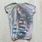 Стильная футболка для девочки. Y.D. Размер 9-10 лет. Состояние: отличное