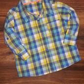 Симпатичная рубашечка M&S на 6-9 мес.