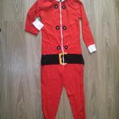 Слип, человечек, кегуруми, домашний костюм Санта Клаус. Дед мороз.  На бирке Small