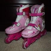 Детские роликовые коньки Barbie Flora  раздвижные размер с 34 по 37