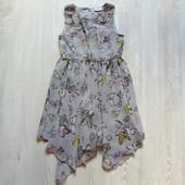 """Стильное платье в принт """"Бабочки"""" для девочки. Внутри на подкладке. Matalan. Размер 8 лет"""