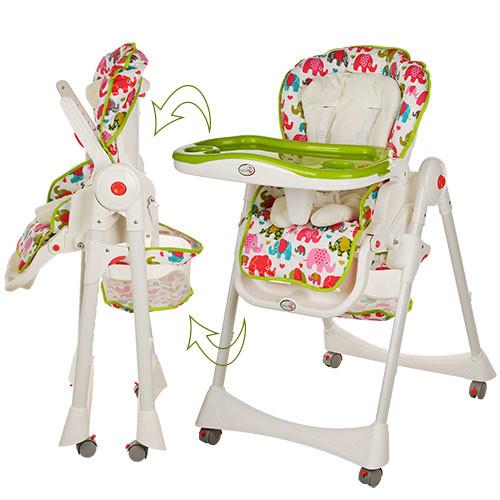 1517 стульчик для кормления высокий bambi детский пластиковый фото №1