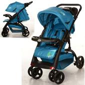 New! Детская прогулочная коляска C18-f-4, синий