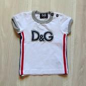 Брендовая футболка для модника. D&G (оригинал). Размер 3 месяца. Состояние: новой вещи, не ношенная.