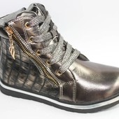 EEBB арт.G523 серый Демисезонные ботинки для девочек.