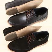 Туфли мужские натуральный замш и кожа