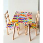 Стол столик + 2 стула деревянный для малышей