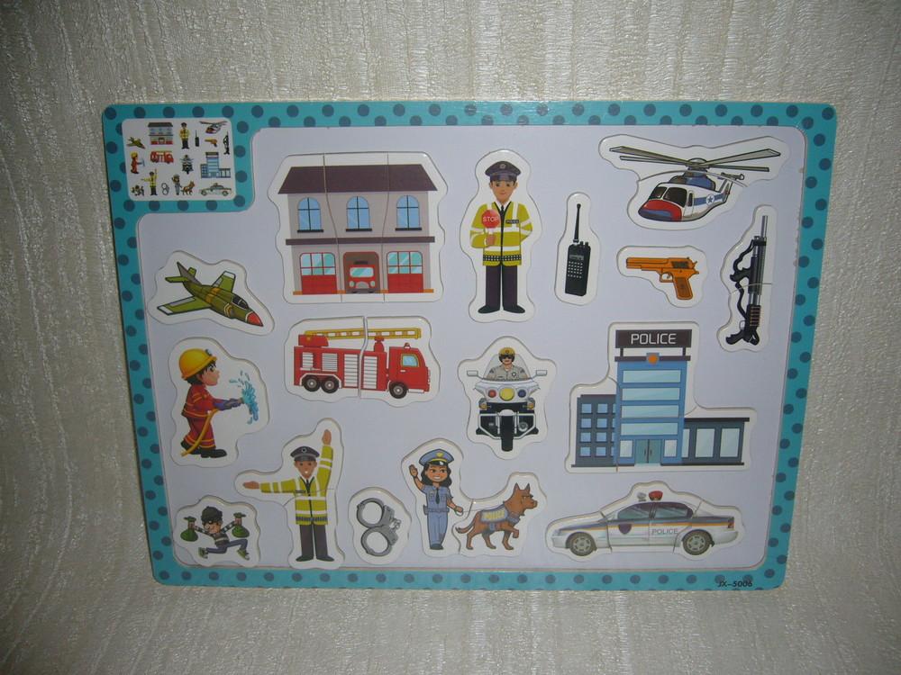 Деревянные игрушки пазлы магнитные, магнитная доска фото №1