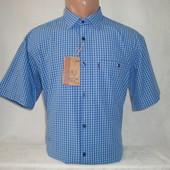 Мужская рубашка с коротким рукавом в клетку Nens, Турция. Разные цвета. Есть большие размеры.