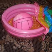 Детский надувной бассейн-лодка с надувным дном