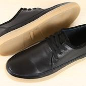 ***Кеды мужские черные и синие кожаные на шнурках