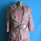 Элегантный костюм двойка(пиджак+платье) , размер 48,сарафан,пиджак