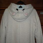 Пижама  флисовая, женская, Белый  Мишка, размер М, рост до 165 см
