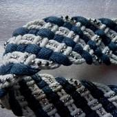 Ремень плетёный женский текстиль
