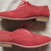 Asos (47, 30,5 см) замшевые броги туфли мужские