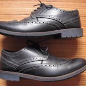 Clarcs (41, 26 см) кожаные туфли оксфорды мужские