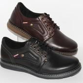 Качественные мужские туфли, кожаные, 2 цвета