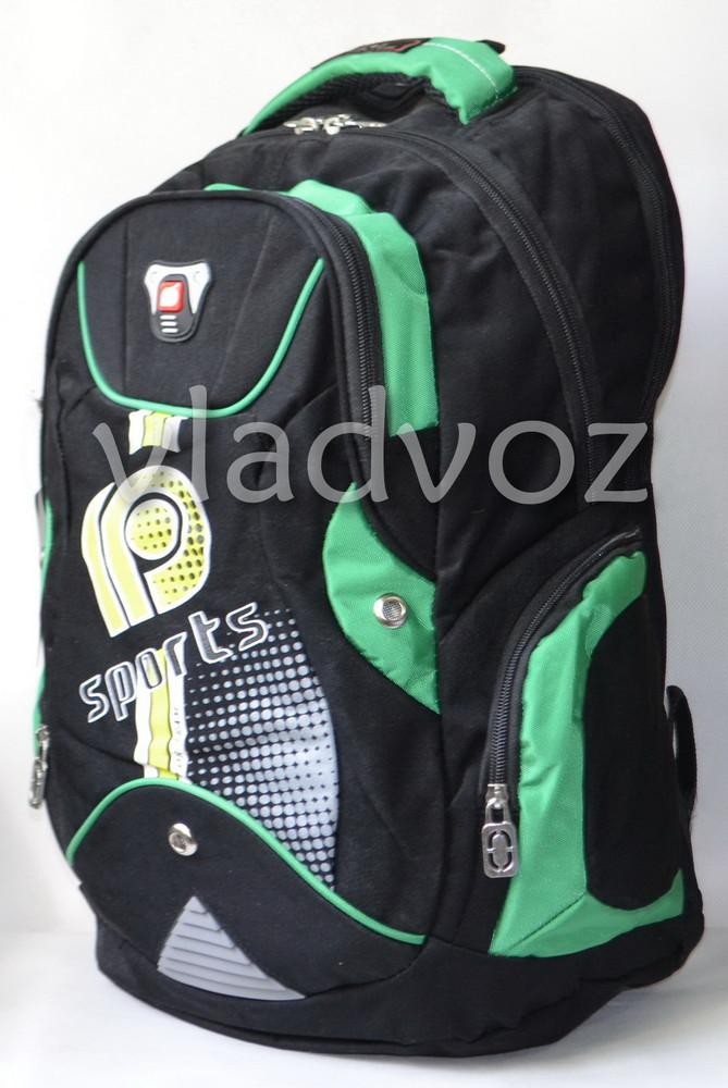 Школьный рюкзак для мальчиков DFW sport зел.чёрн. фото №1